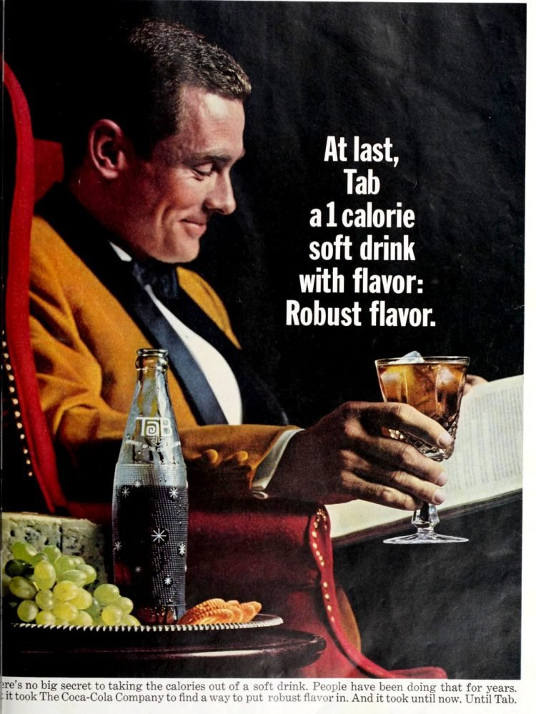 Tab - Robust flavor soda - 1965