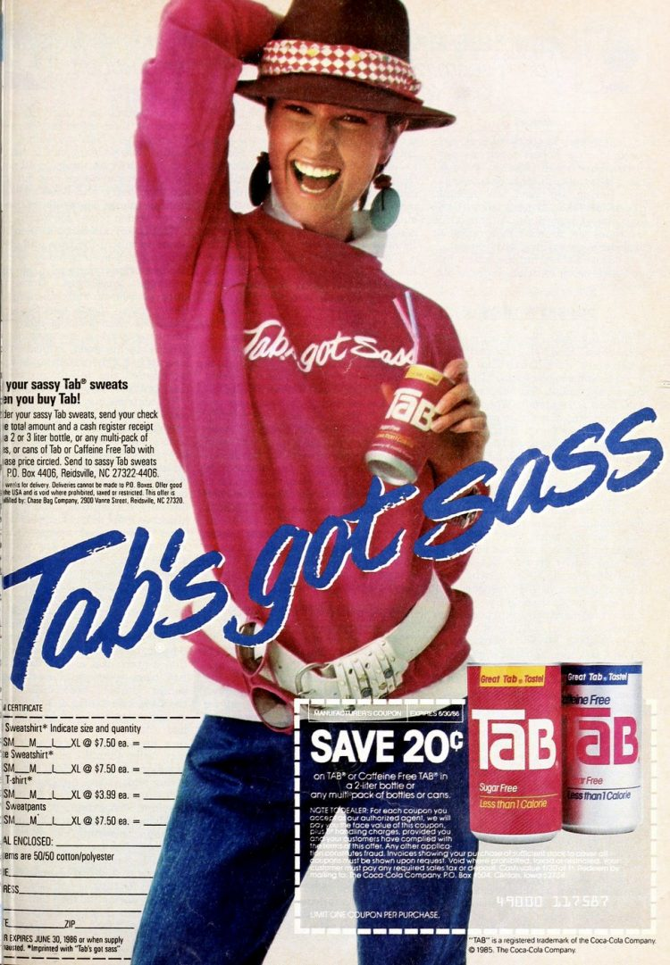 Vintage Body by Tab cola ad from 1982
