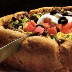 Taco salad puff bowl