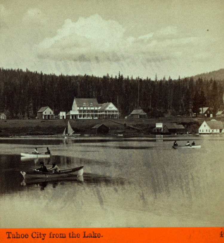 Tahoe City from the Lake 1875