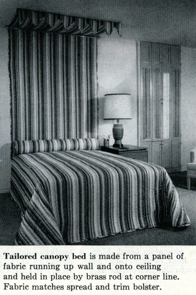 Tailored canopy bed home decor idea from 1959