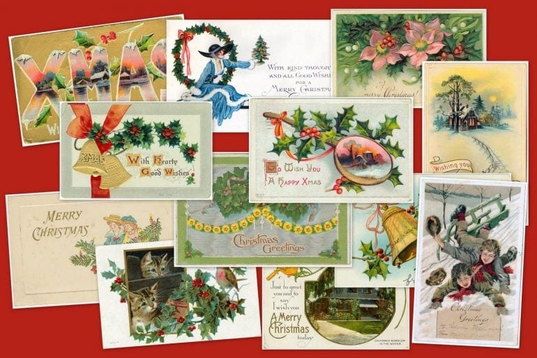 Take a look back at 50 antique Christmas cards from 100+ years ago