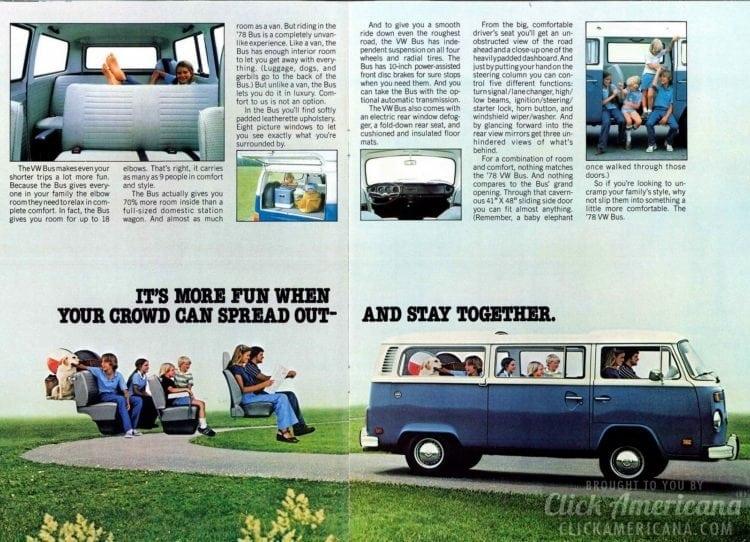 Take the Bus - Blue VW van - 1978