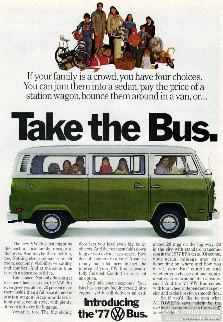 Take The Bus The Volkswagen Van That Is 1977 1978 Click Americana