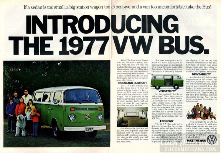 Take the Bus - Introducing VW van - 1977