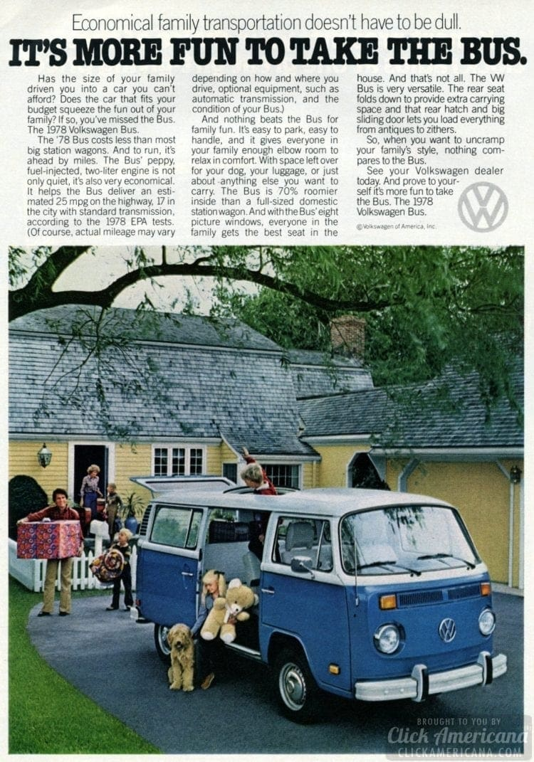 Take the Bus - VW Volkswagen van - Dec 1977