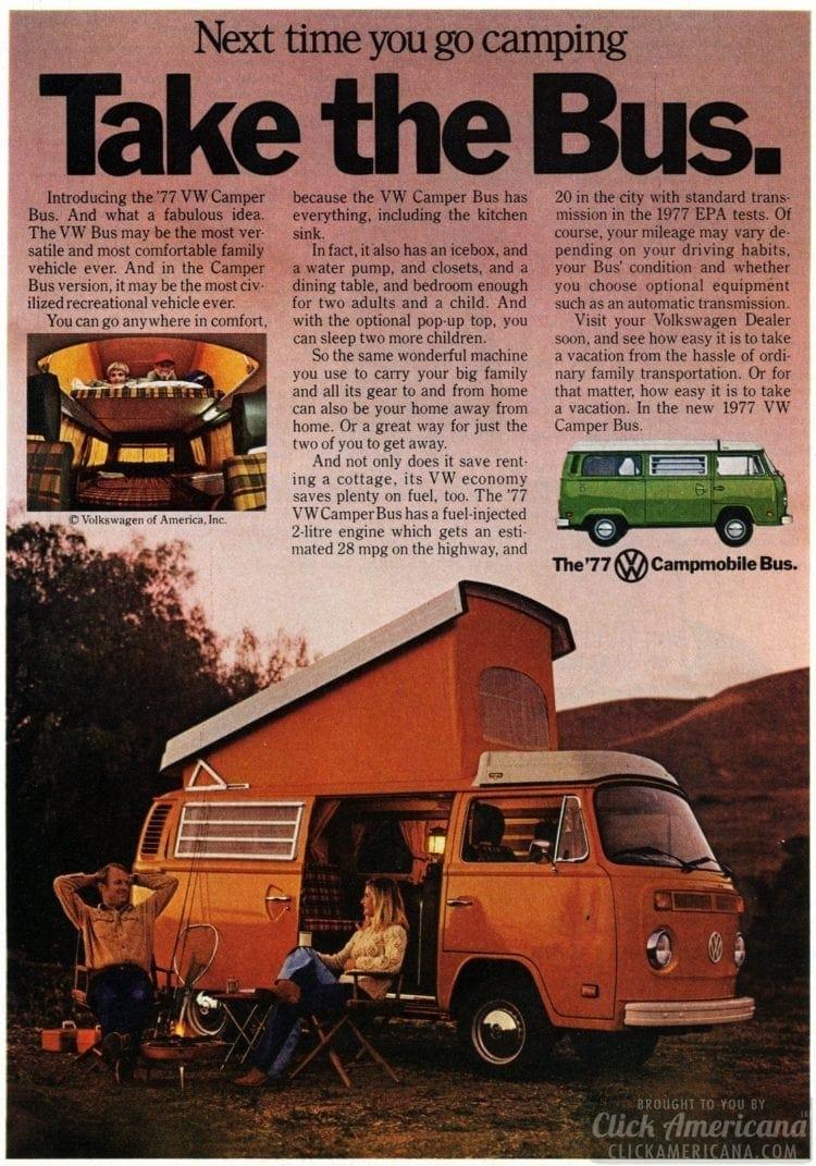 Take the Bus - VW camper van - March 1977
