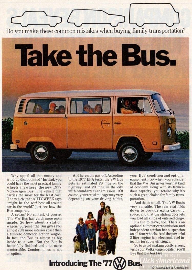 Take the Bus - VW van - May 1977
