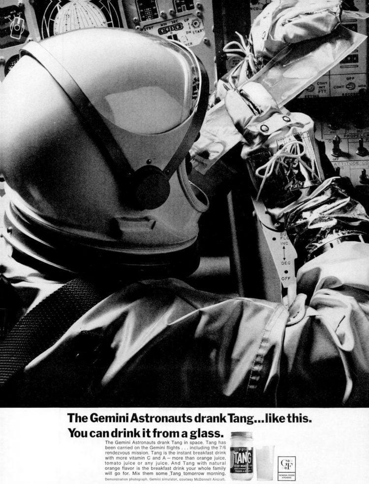 Tang - Gemini astronauts - Jan 7, 1966