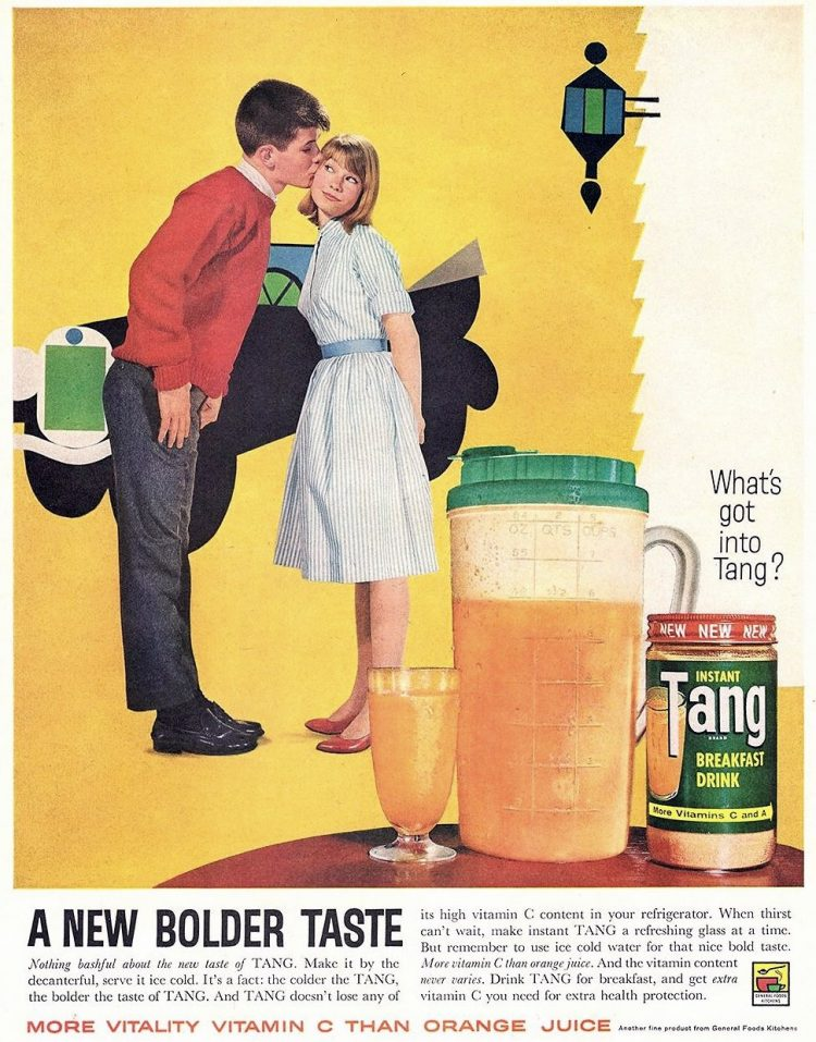 Tang vintage drink mix ad from 1961