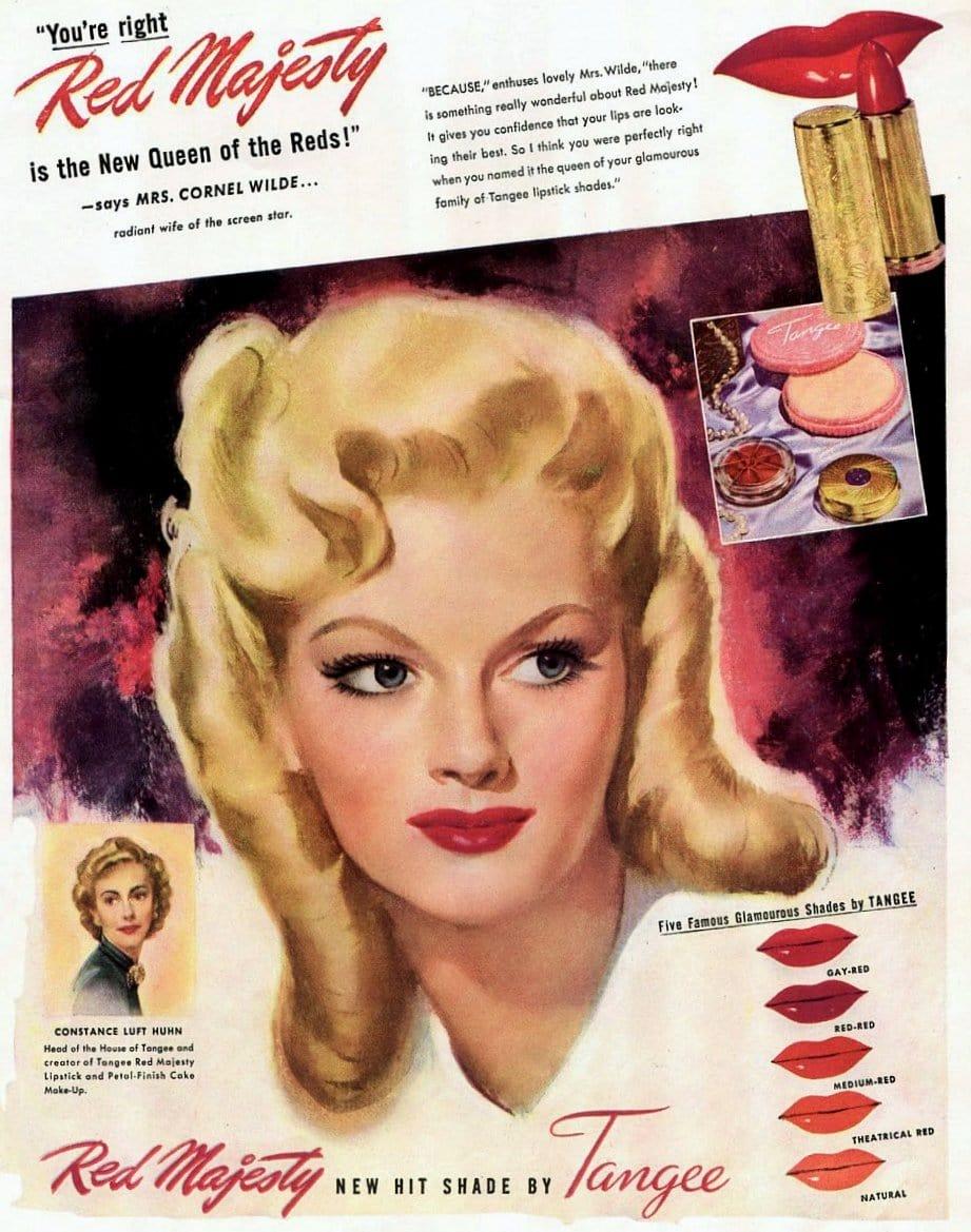Tangee lipstick 1947