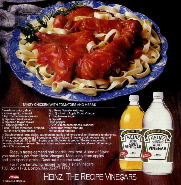 Tangy chicken with tomatoes and herbs (1988)