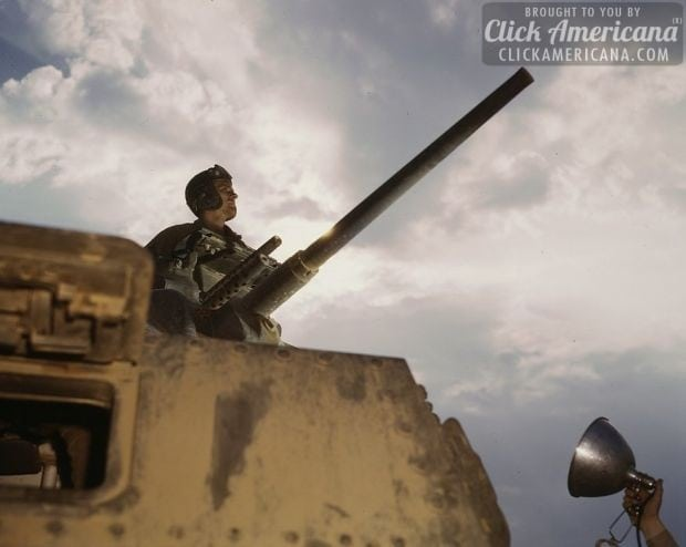 Tank commander, Ft. Knox 1942