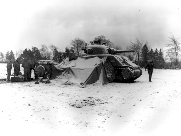 Tanks at the 1945 Battle of the Bulge, from US DOD