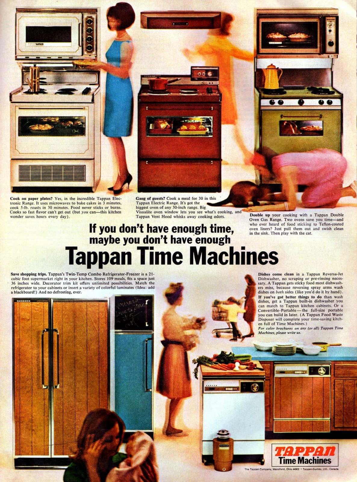 Tappan Time Machines kitchen appliances(1966)