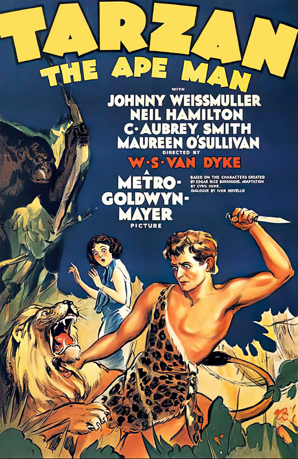 Tarzan the Ape Man classic movie with Johnny Johnny Weissmuller (1932)