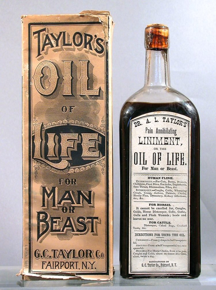 Taylor's Oil of Life - for Man or Beast c1900
