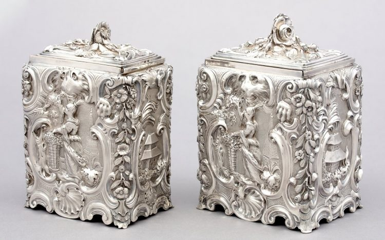 Tea and Sugar Caddies from 1750s