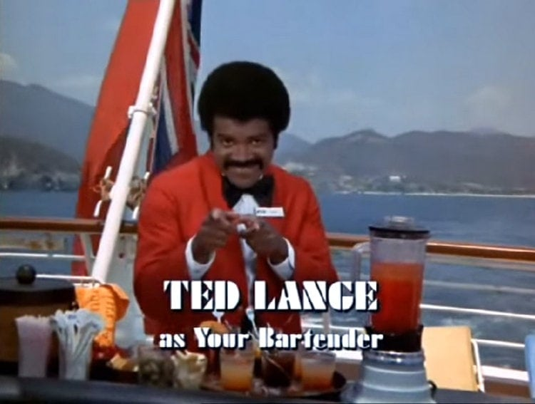 Ted Lange as the bartender Isaac