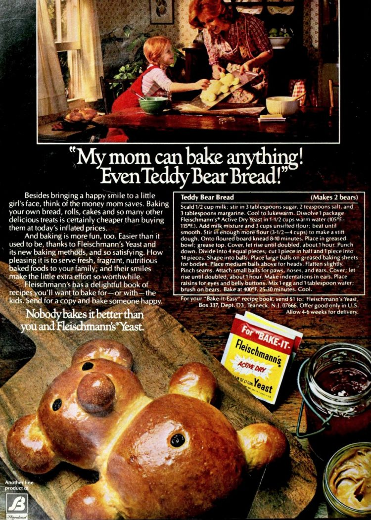 Teddy Bear bread 1980