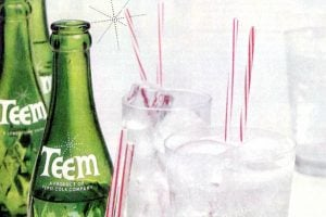 Teem soda The crystal-clear lemon-lime soft drink