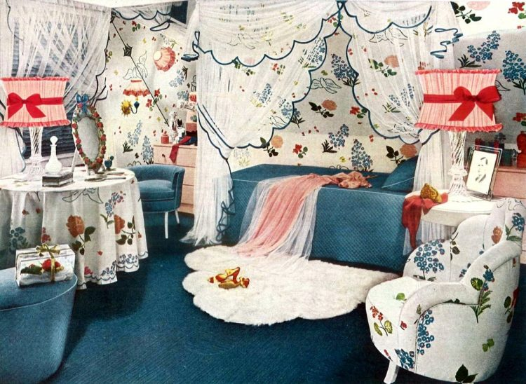 Teenager bedroom 1940s interior design from 1941