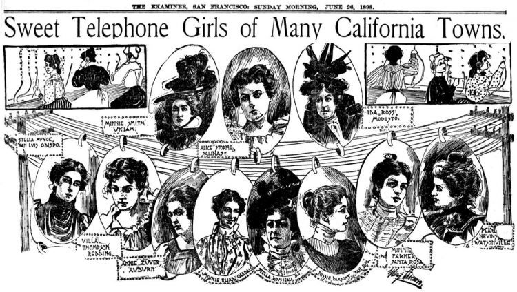 Telephone girls - Phone operators June 1898 (2)