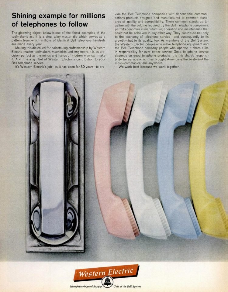 Telephone handsets from 1962