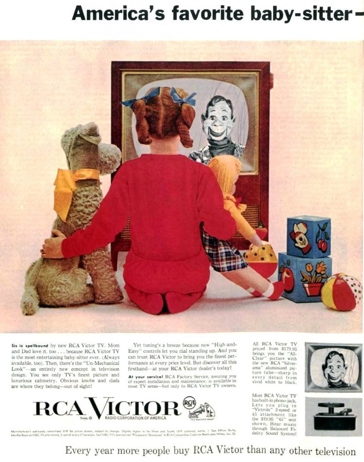 Television is America's favorite babysitter - RCA Victor 1956