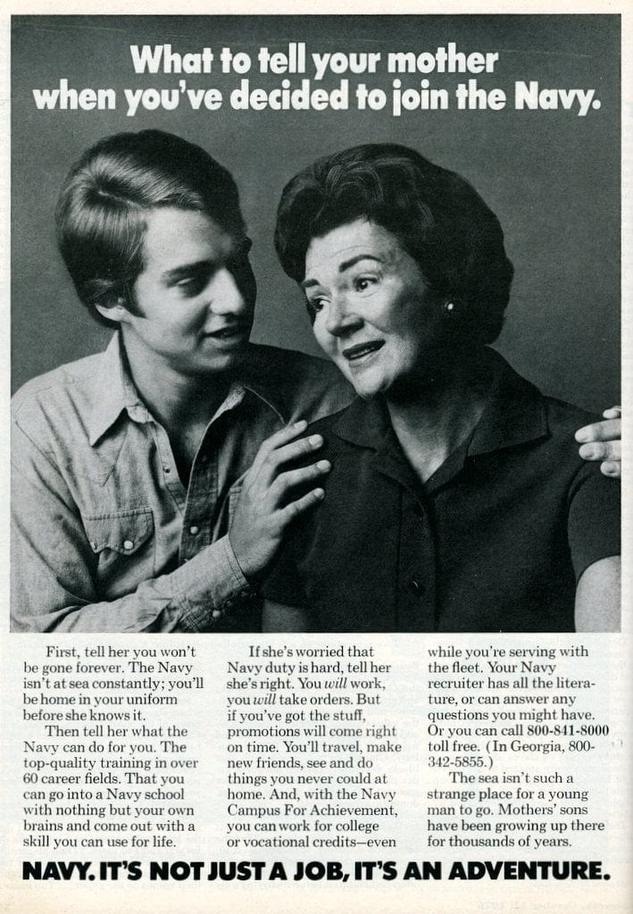 Telling mom you've decided to join the Navy (1976)