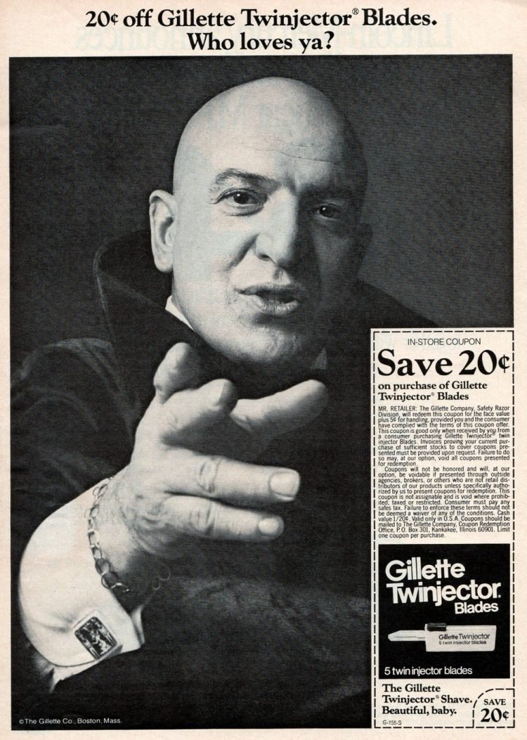 Telly Savalas for Gillette razors