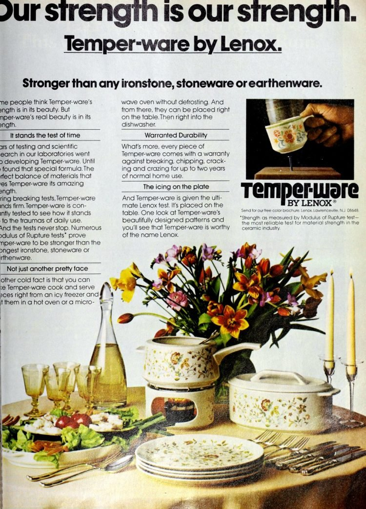 Temperware dishes from the 1970s (2)