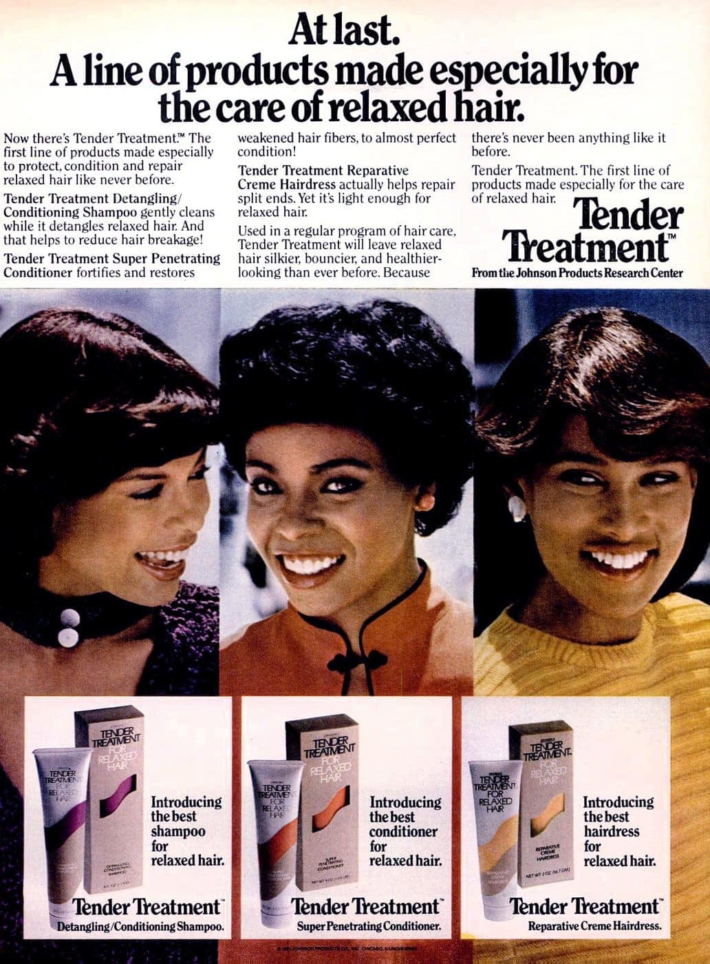 Tender Treatment shampoo and conditioner from 1981