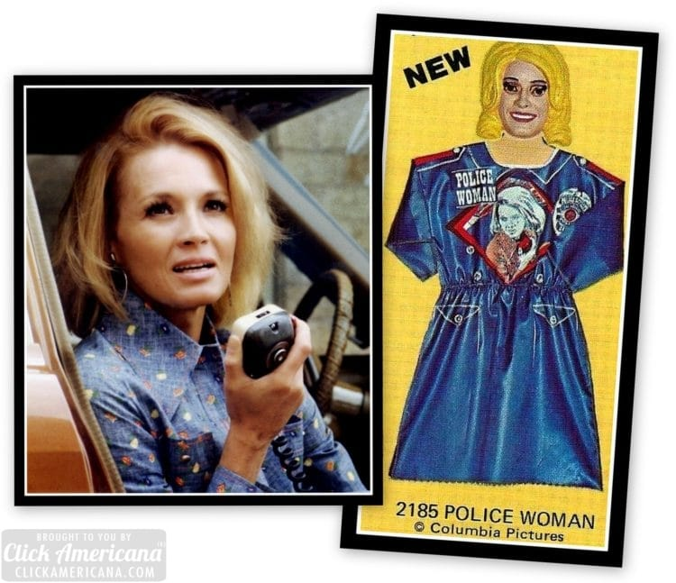 Terrible Vintage 70s Halloween costumes and masks - Police Woman