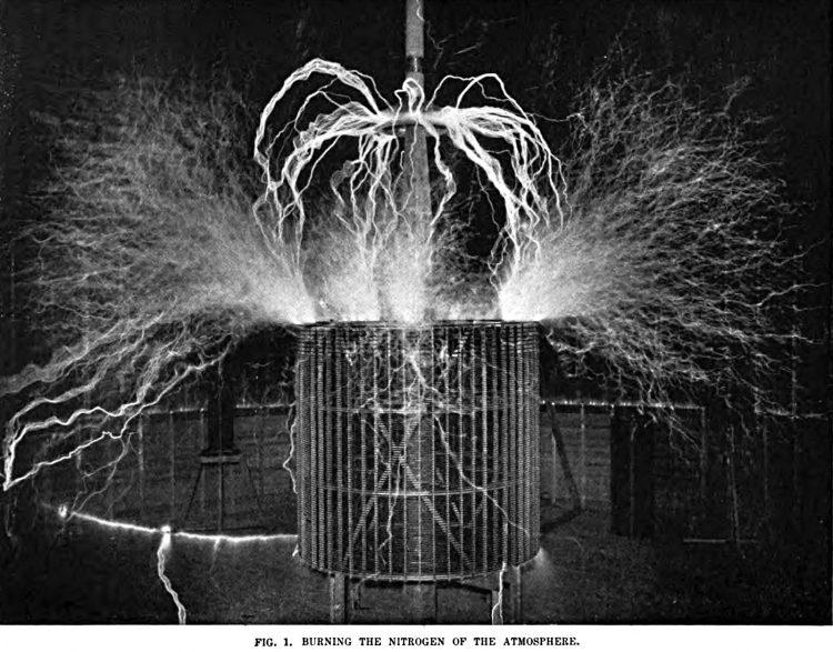 Tesla - Burning the Nitrogen of the Atmosphere
