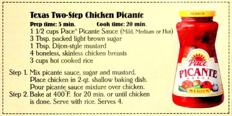 Texas Two-Step Chicken Picante recipe card