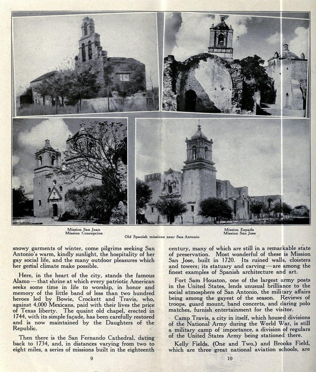 Old Spanish Missions near San Antonio
