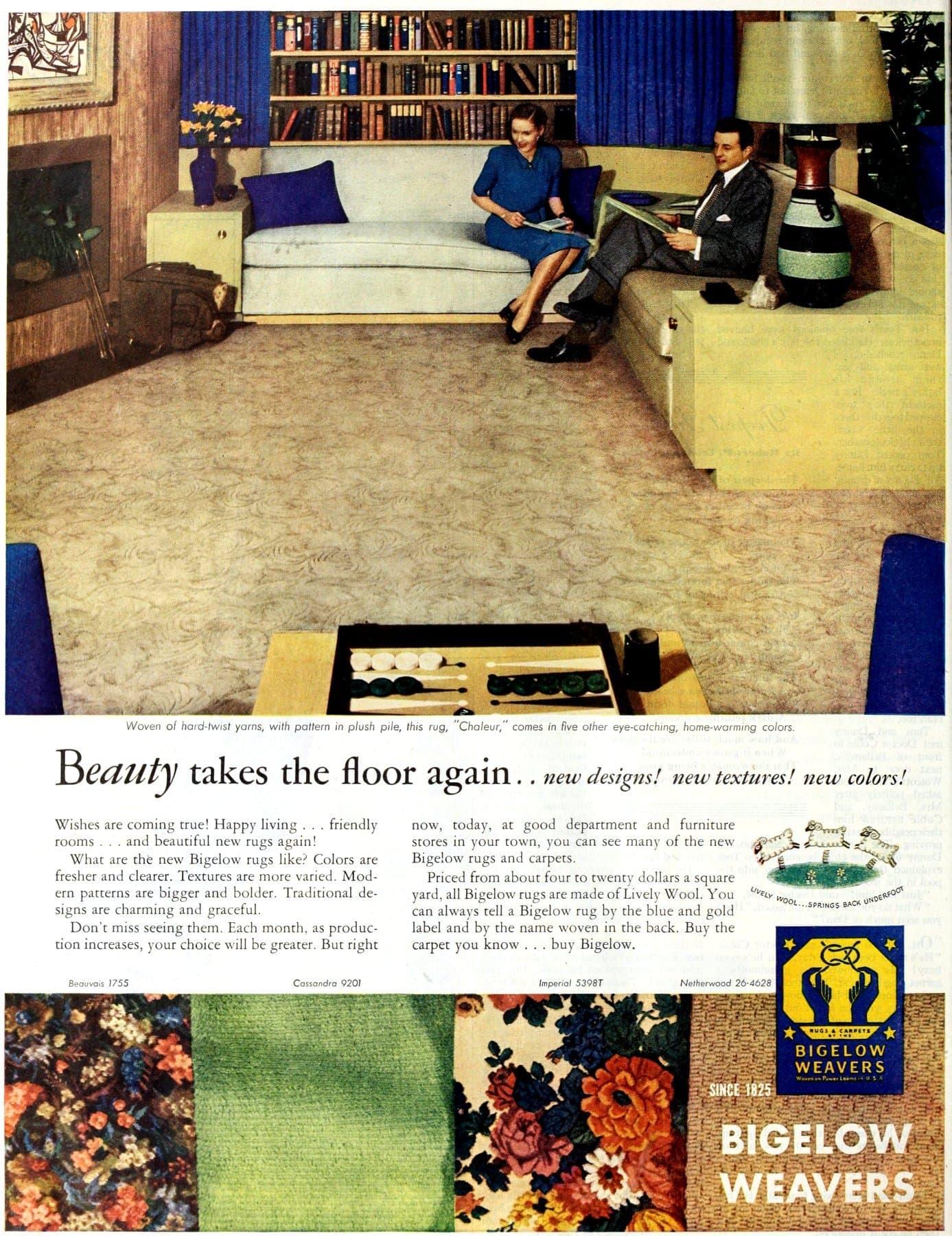 Textured retro Bigelow carpets (1946)