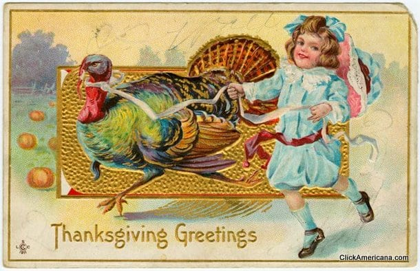 Thanksgiving Greetings Antique Postcards 1900s Click