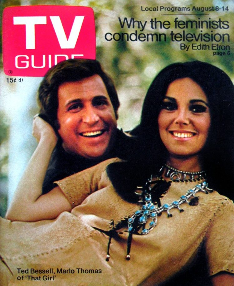 That Girl TV guide magazine cover Aug 1970