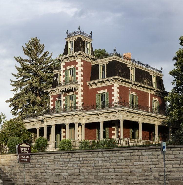 The 1882 Second Empire-style Bloom Mansion Museum in Trinidad, Colorado