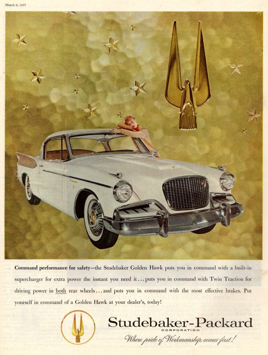 The 1957 Studebaker Golden Hawk