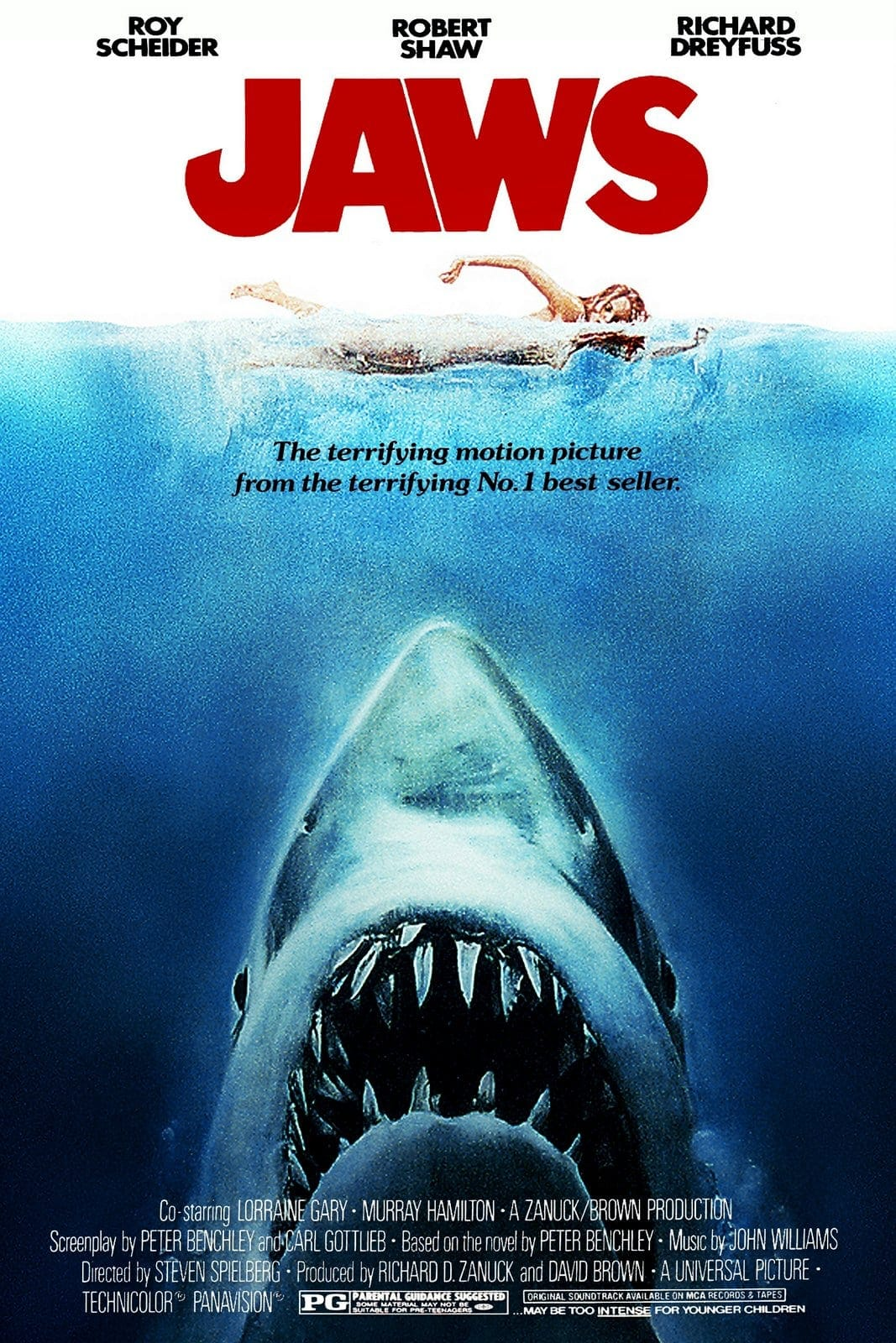 The 1975 JAWS movie poster