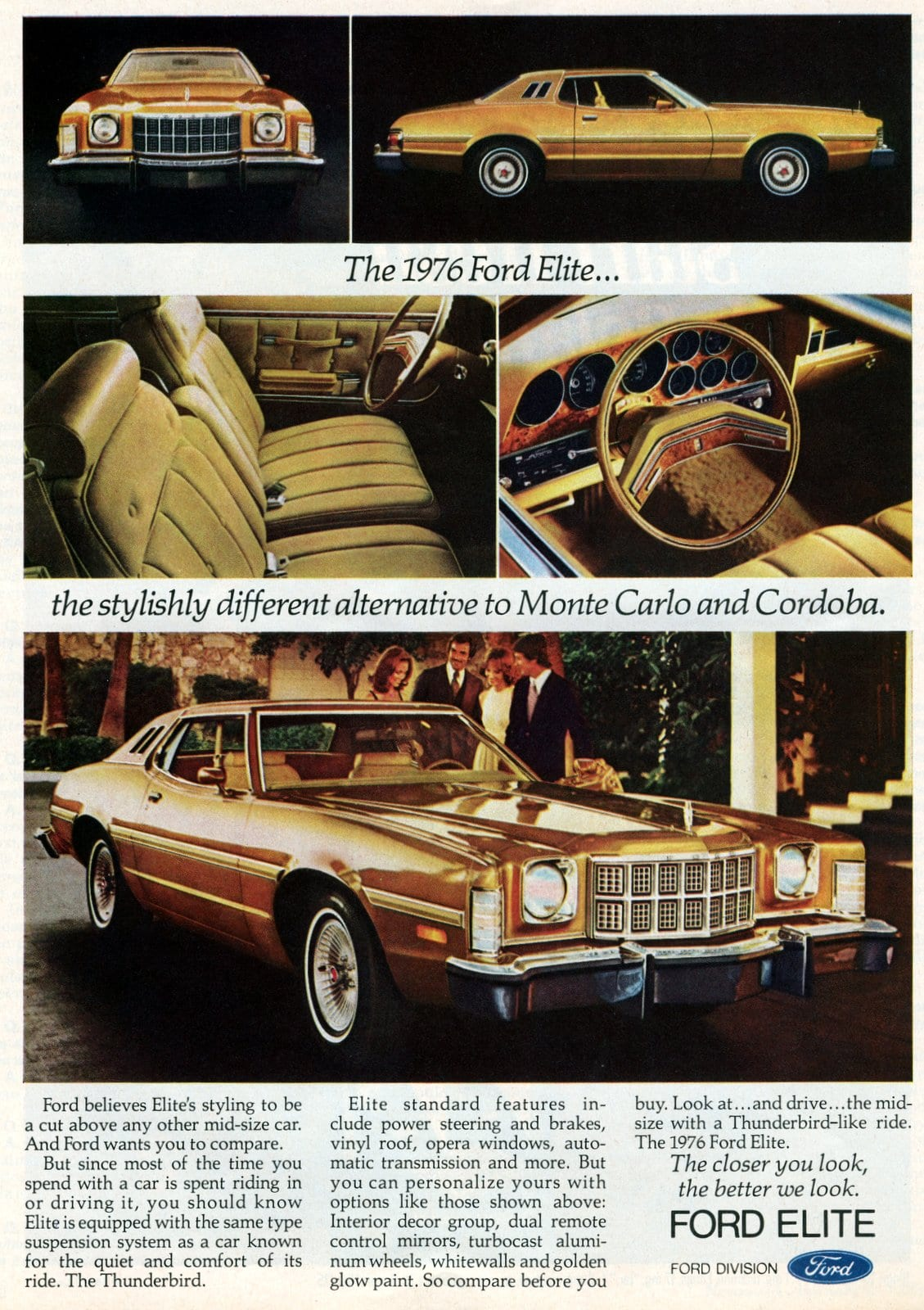 The 1976 Ford Elite cars