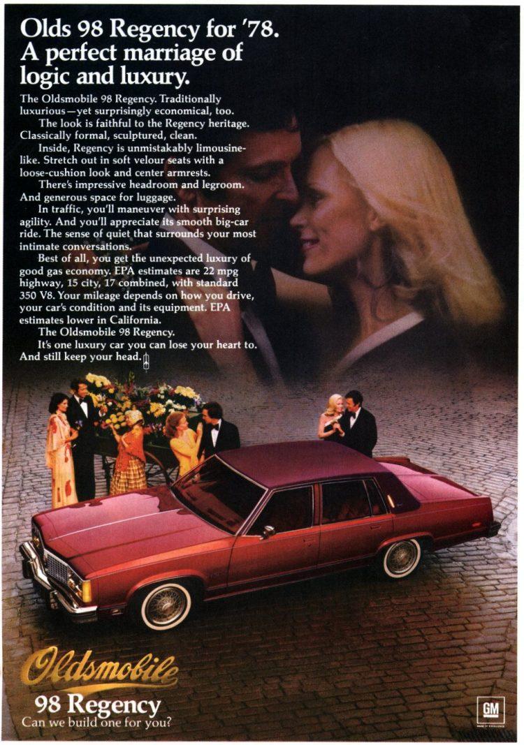 The 1978 Oldsmobile 98 Regency