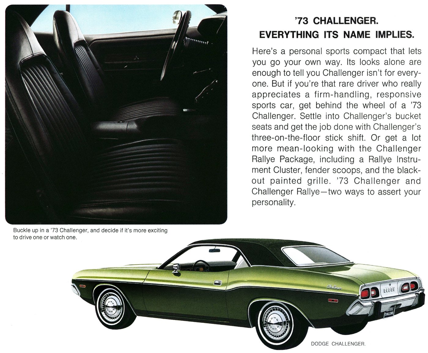 The 73 Dodge Challenger cars