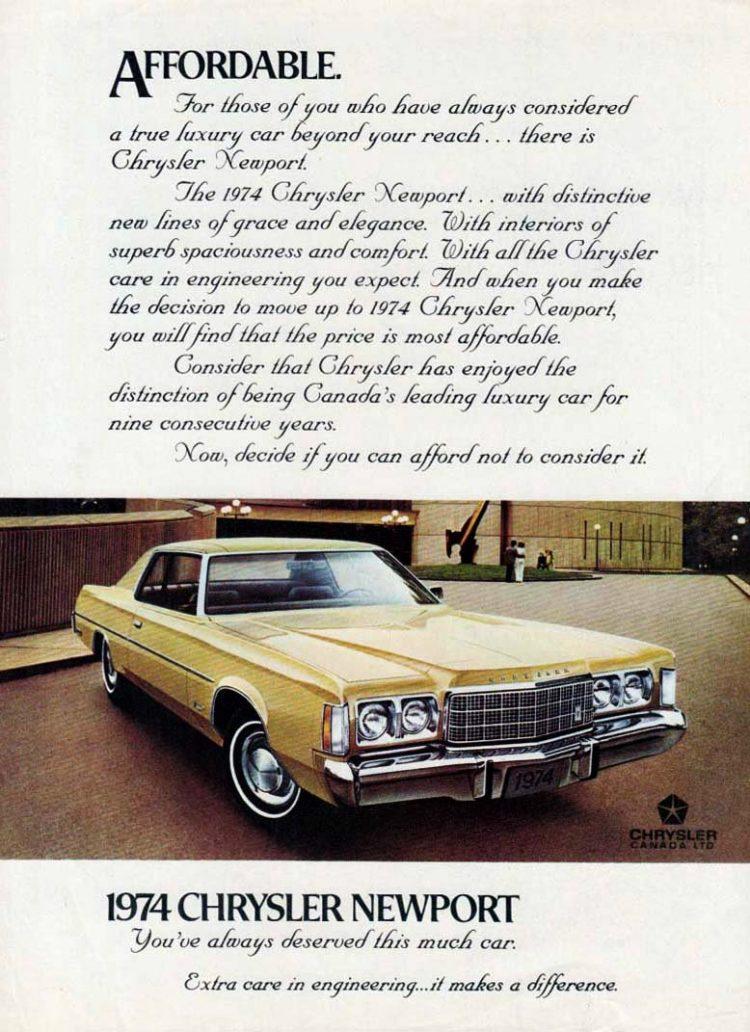The '74 Chrysler Newport