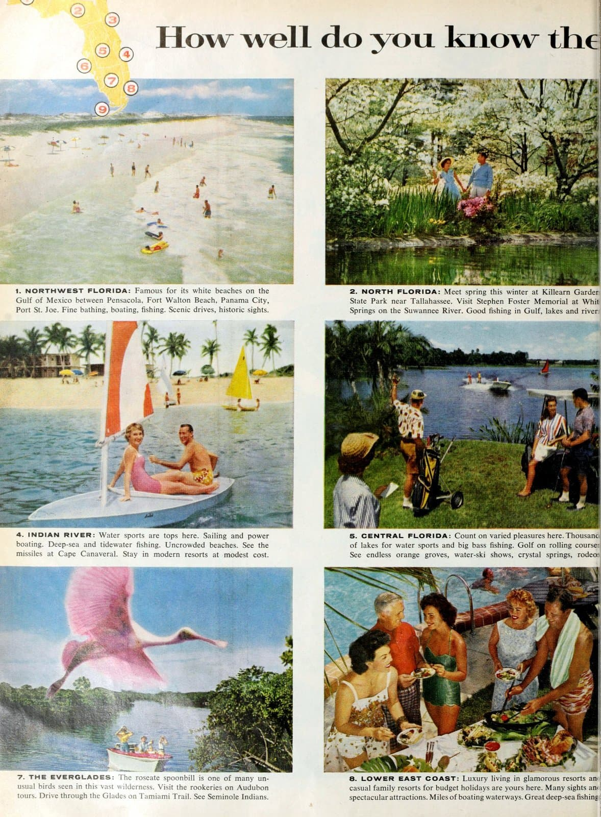 The 9 vacation regions of Florida in 1960 (2)