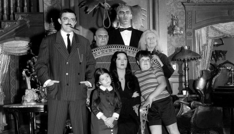 Meet the Addams Family, plus see the classic TV show's opening credits and theme lyrics (1964-1966)