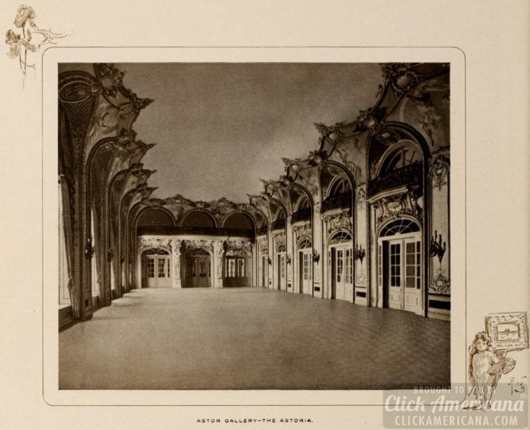 The Astor Gallery at the Astoria Hotel in Manhattan - 1903